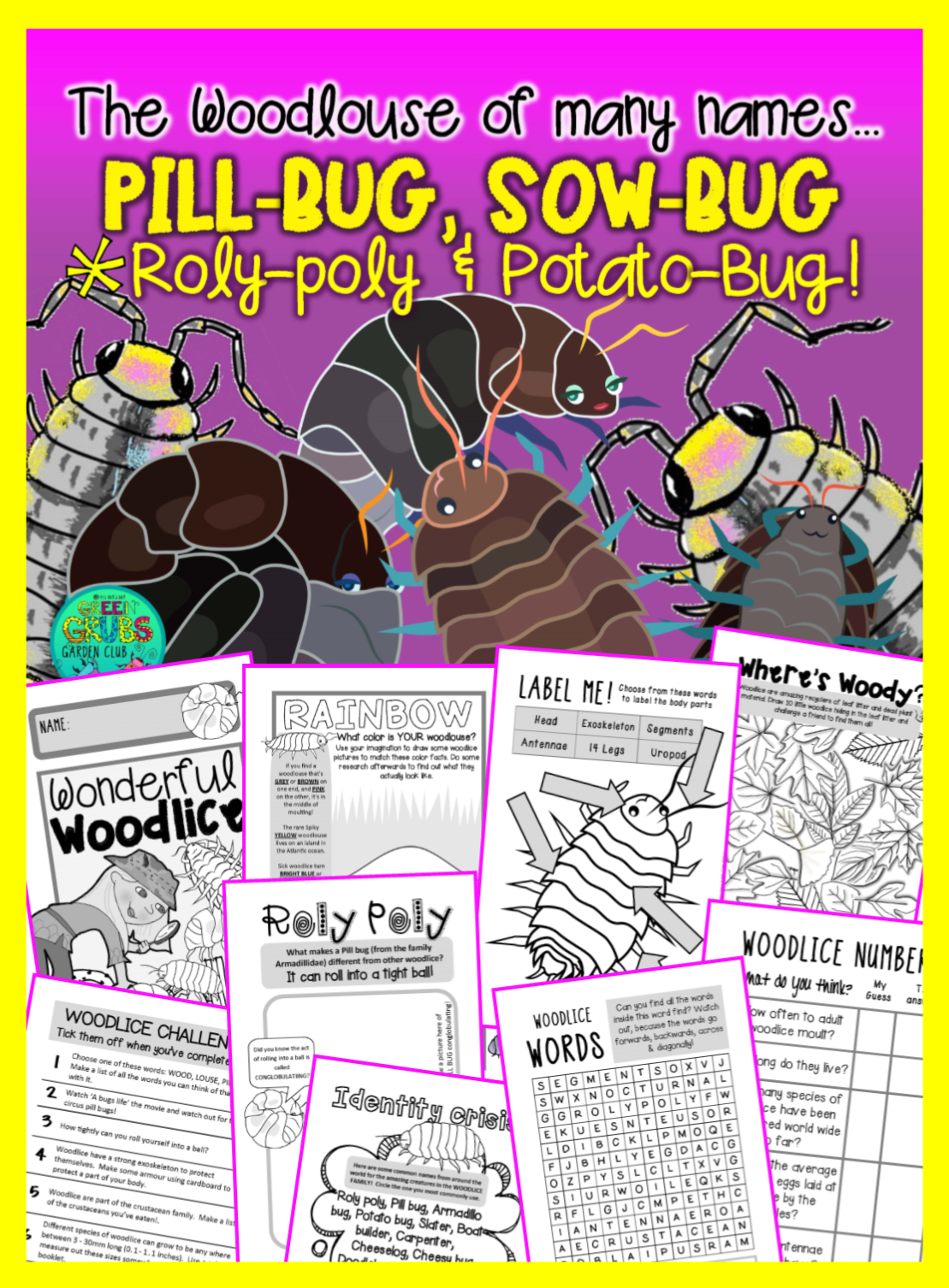 Pill Bugs Sow Bugs Roly Polies Potato Bugs The Woodlouse Family
