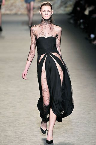 Stella McCartney Fall 2009 Black Lace Dress Photograph