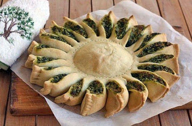 PANELATERAPIA - Blog de Culinária, Gastronomia e Receitas: Torta Girassol de Espinafre