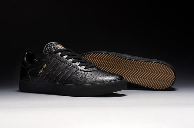 the best attitude 89030 80b53 Mens Adidas 350 Spzl Leather Black Trainers