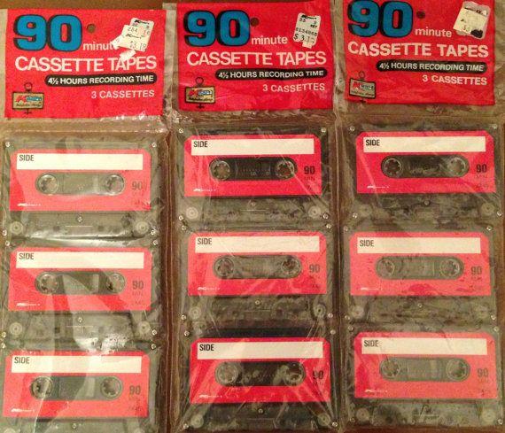 Vintage Kmart Blank Cassette Tapes 90 Minute Nos Cassette Tapes Cassette Tapes