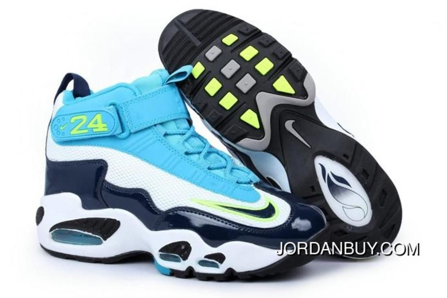 Ken Griffey Max I With Features Pure Platinum/Midnight Navy & Neo Turquoise  Black Male Style Sports Shoes