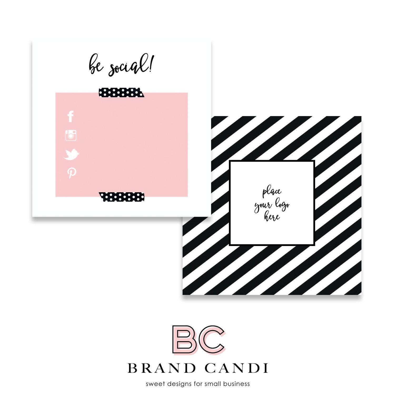instant premade social media card template social