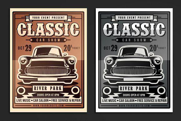 Classic Car Show Flyer by muhamadiqbalhidayat on Creative Market
