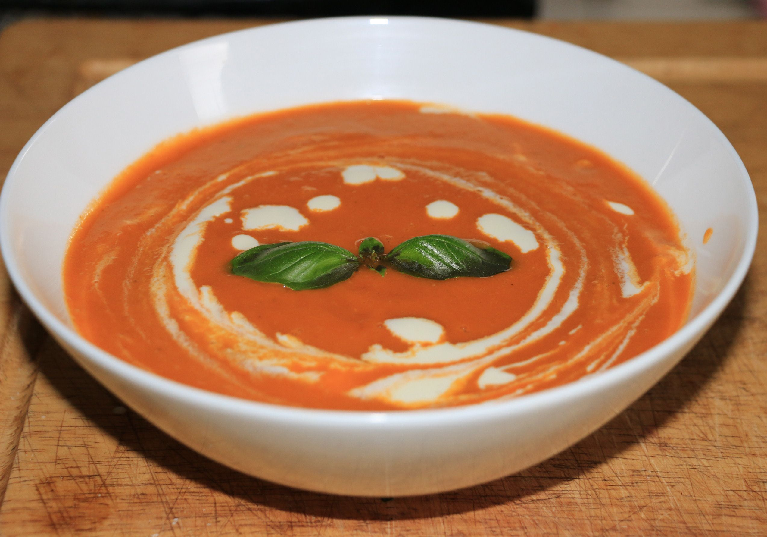 Home made TOMATO SOUP  Calories - 79 Carbs  - 19gm Sugars - 8gm Fat - 1gm Protein - 5gm Sodium - 365gm  Serves 10 (large serves)  Recipe in comments :)