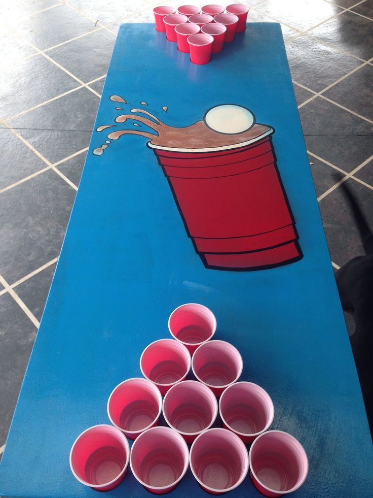 painted beer pong table - Google Search | Beer pong table ...