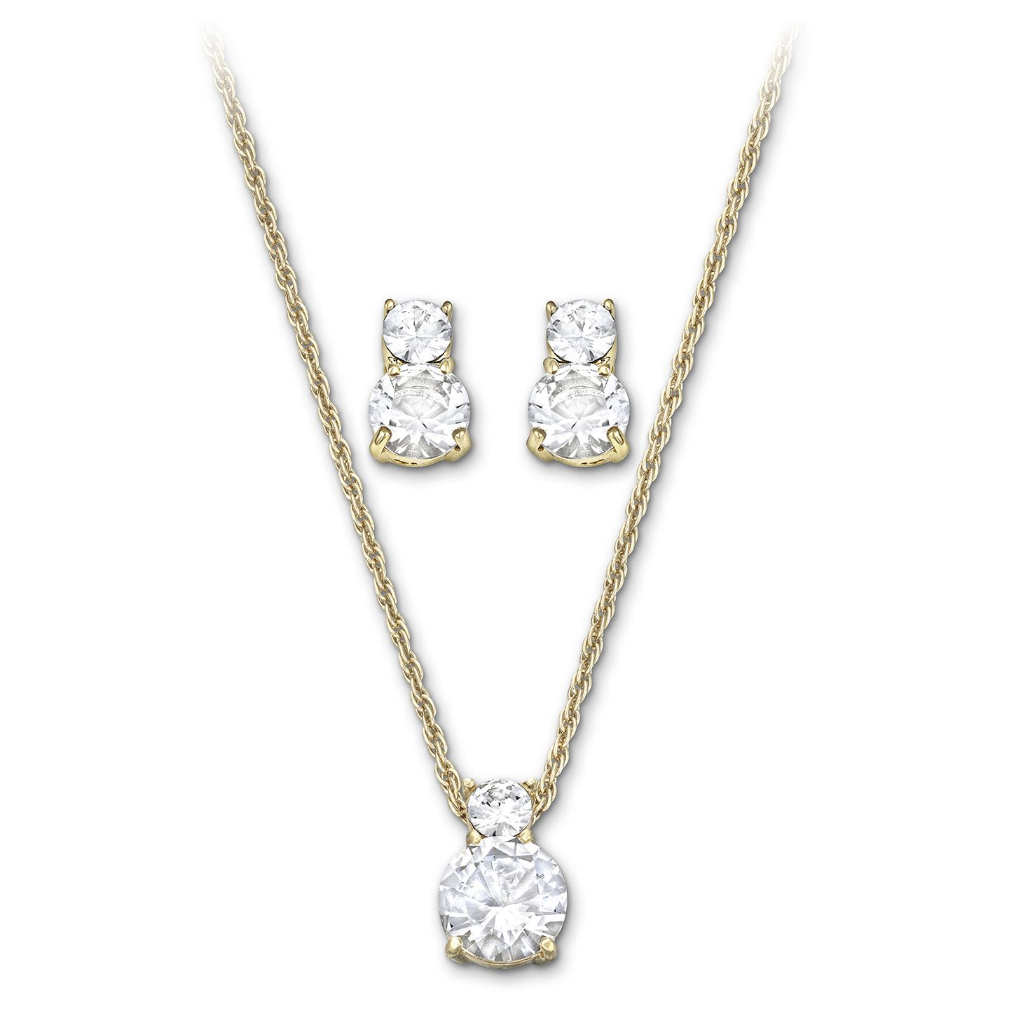 Swarovskius brilliance set is classic enough to sparkle on your big