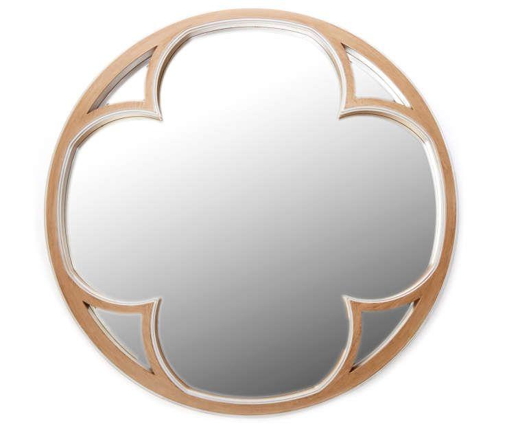 Quatrefoil Round Decorative Wall Mirror 23 At Big Lots Round Wooden Mirror Mirror Quatrefoil