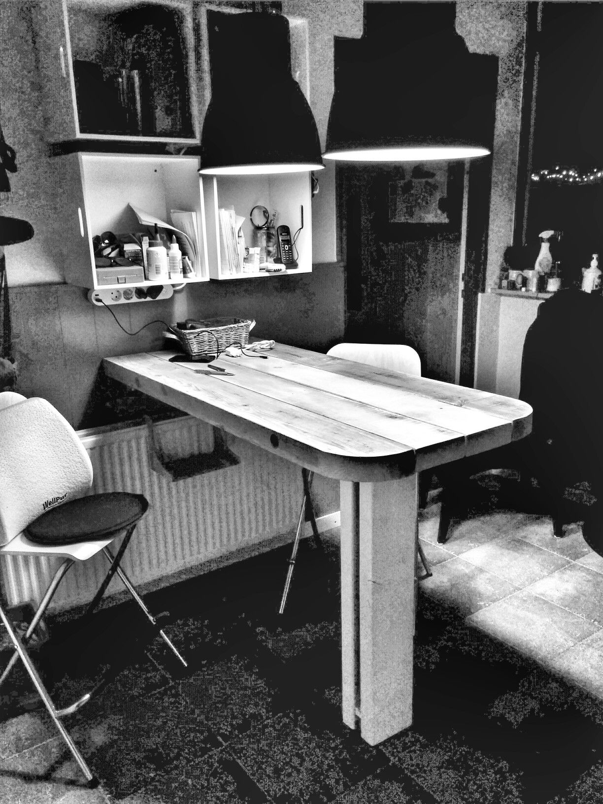 #keukentafel gemaakt van baddinghout #diy