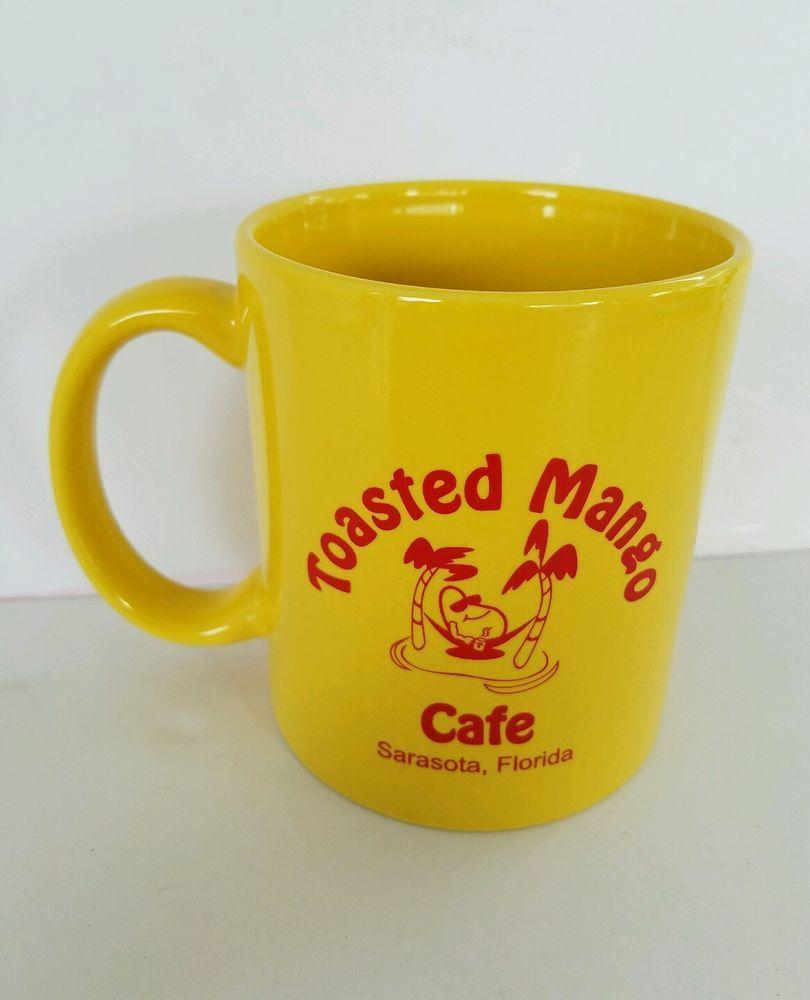 Toasted mango cafe mug sarasota florida souvenir yellow hammock