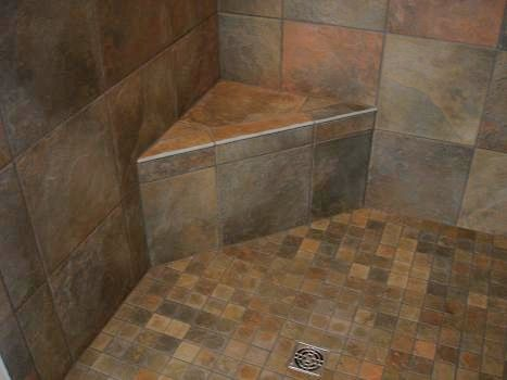 Tile Showers With Bench