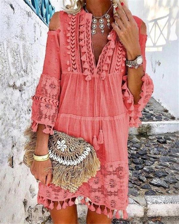 Bohemian Summer Holiday Daily Fashion Short Mini Dresses 7