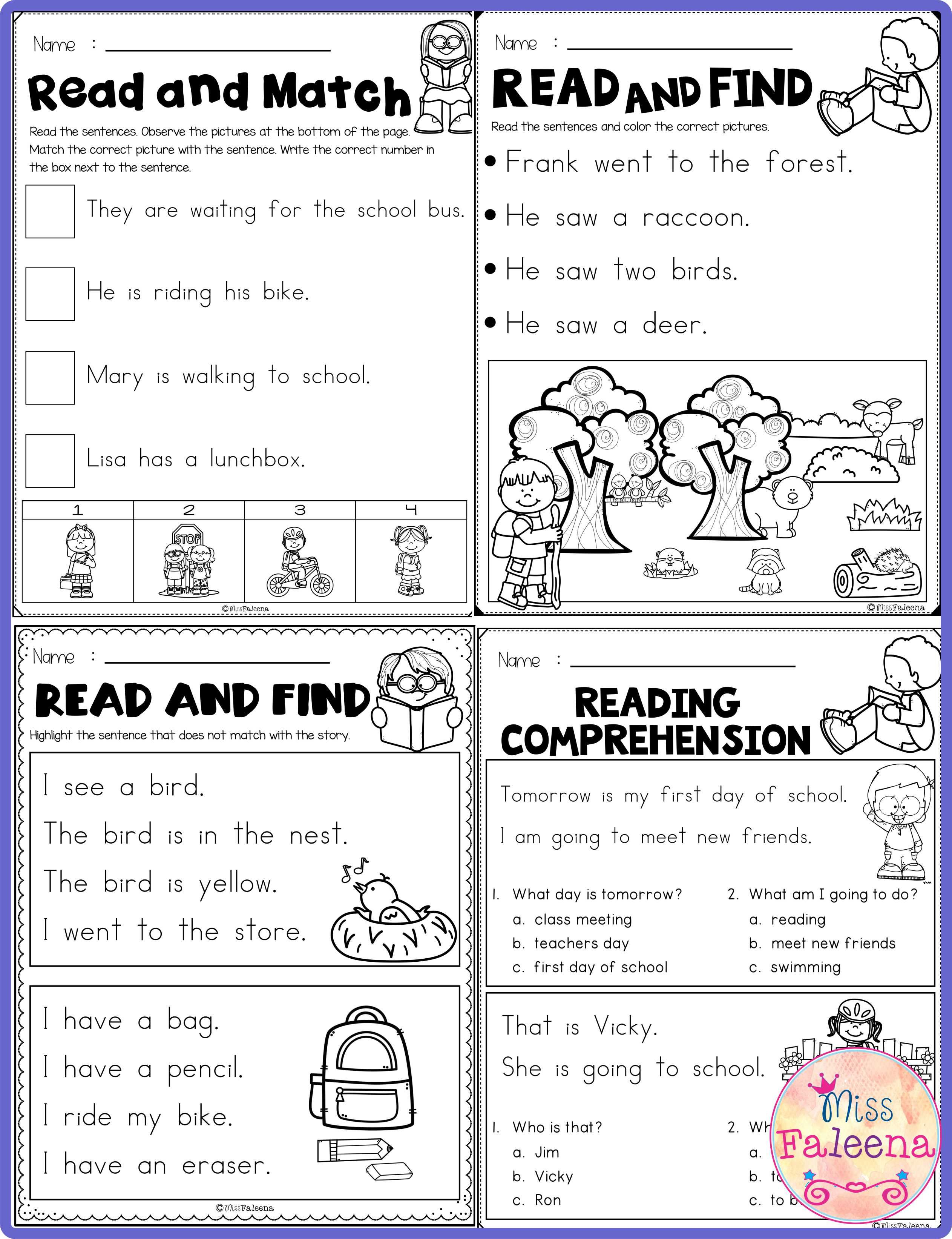 September Reading Activities For Beginning Readers