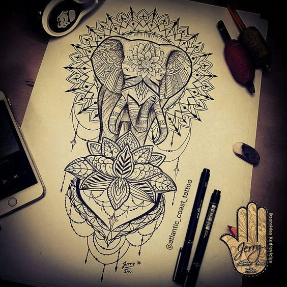 Elephant Mandala Tattoo Tattoos T Tatuajes Elefantes Y: Resultado De Imagen Para Mandala Tattoo Sleeve