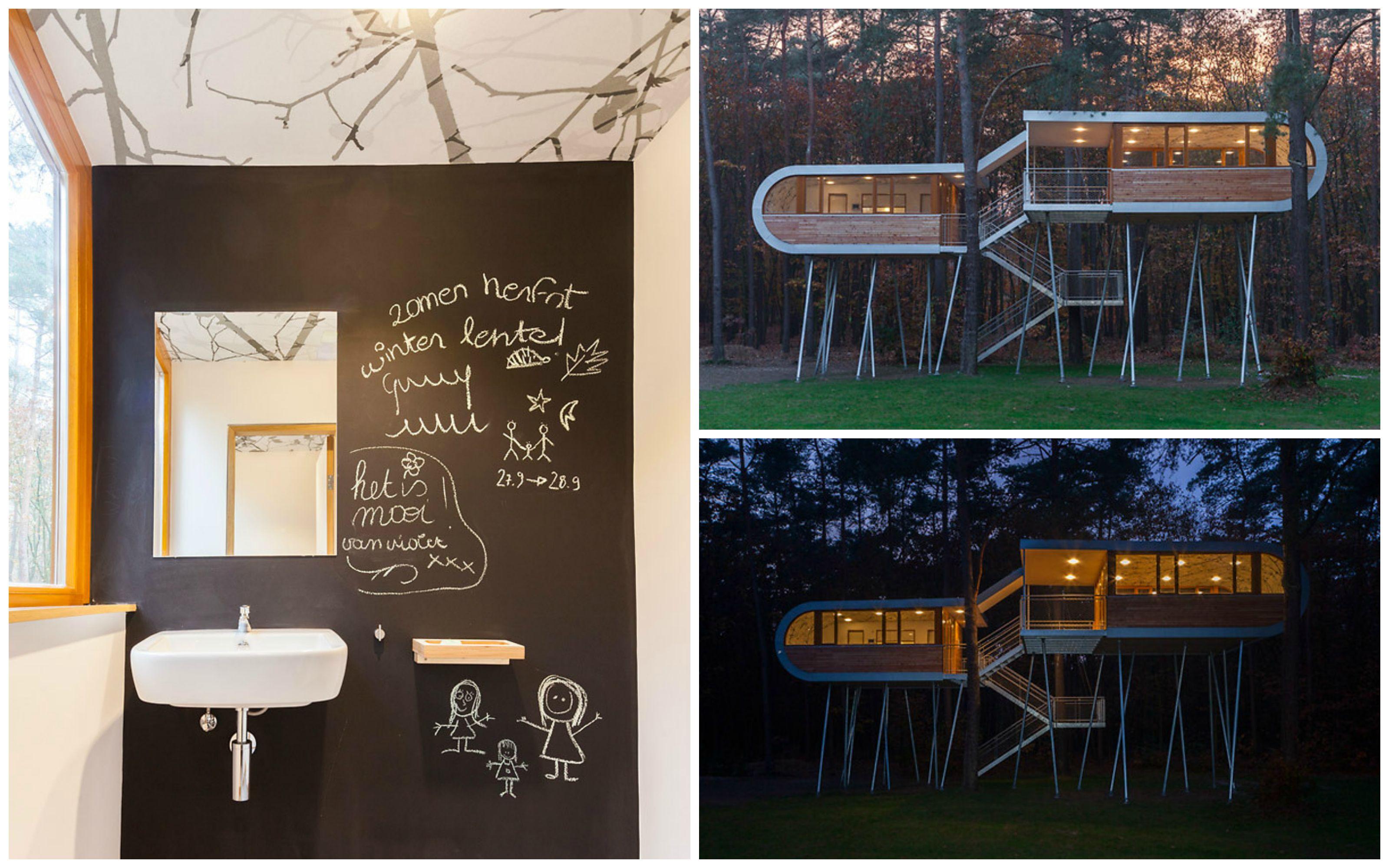 Amazing tree house in Belgium! #treehouse #inspiration