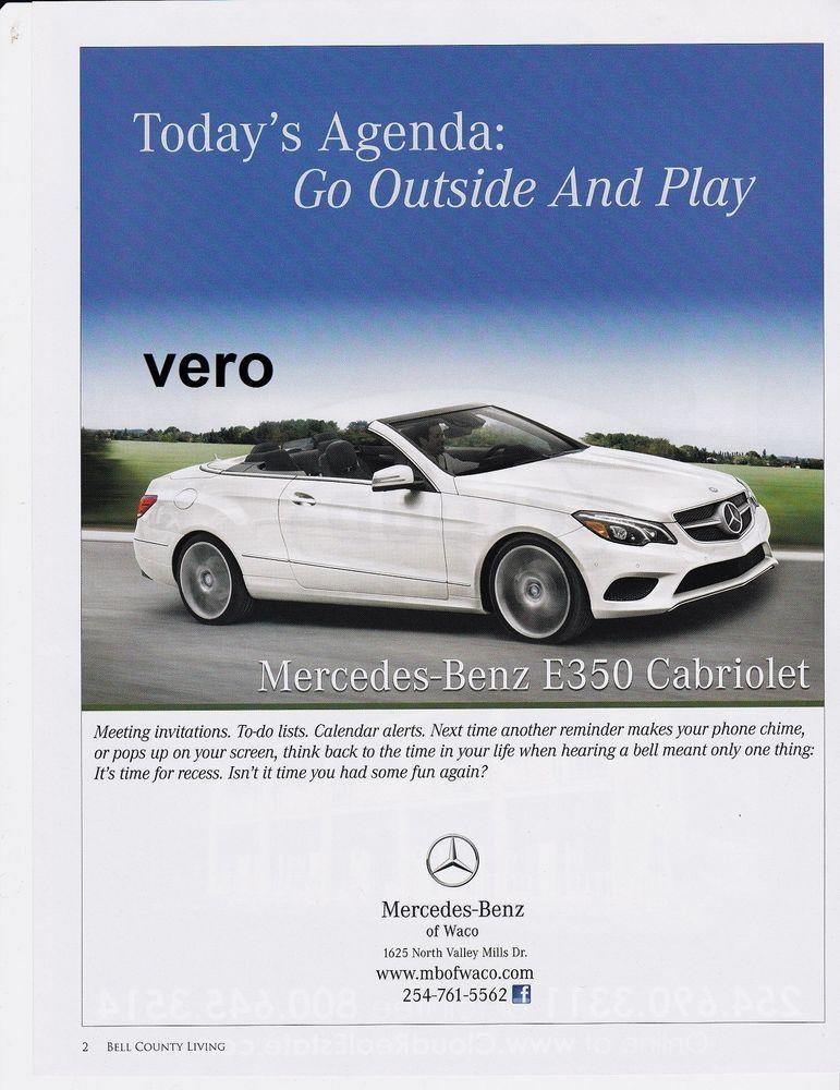 2014 magazine ad mercedes benz cabriolet e 350 print for Mercedes benz magazine