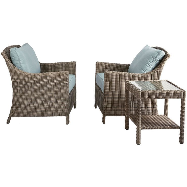 Laguna Chat Set 3pc Home Outdoor Furniture Sets Furniture