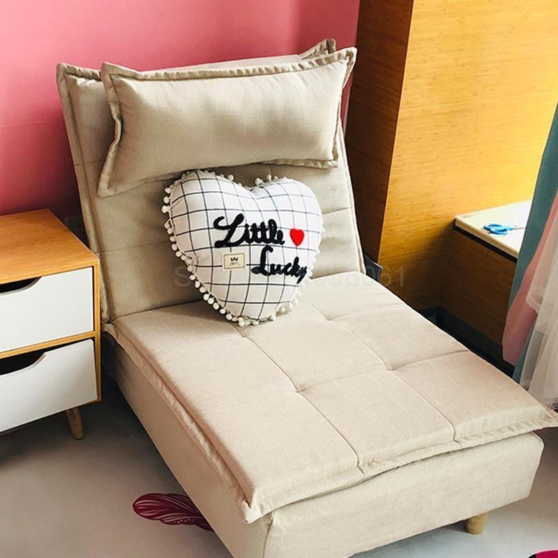 Lazy Sofa Single Balcony Foldingclothes Lazy Sofa Single Sofa Bedroom Chair