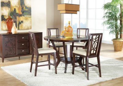 Cindy Crawford Home Highland Park 5 Pc Counter Height Dining Room