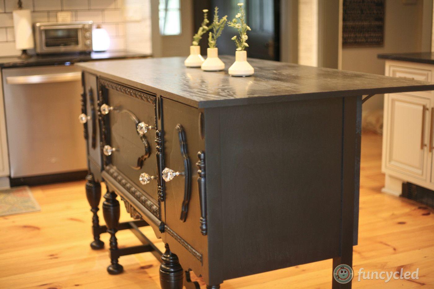 Repurposed Antique Buffet Into Kitchen