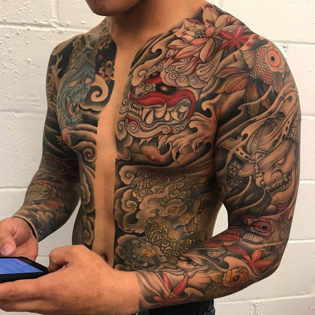Japanese upper body tattoo Japanese tattoos for men