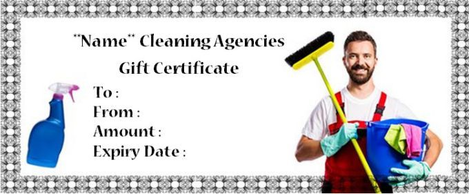 Cleaning Gift Certificate House Cleaning Gift Certificate