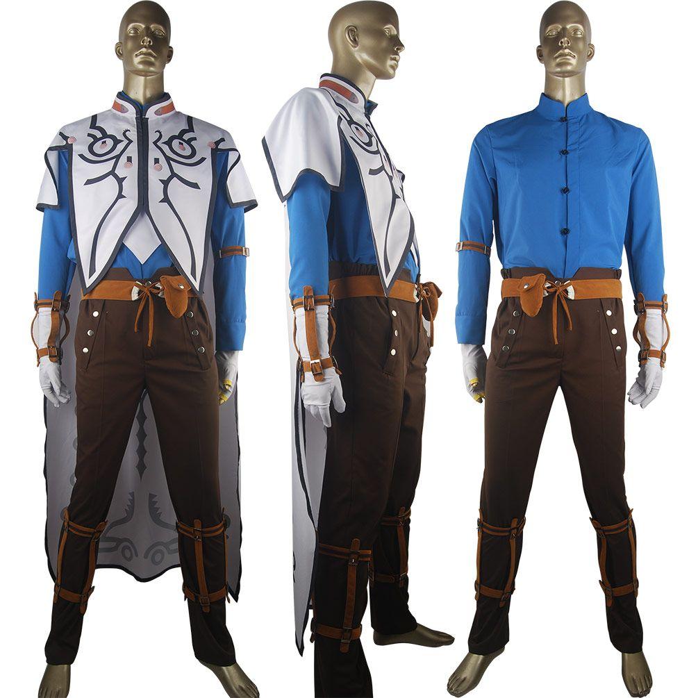Tales of Zestiria Sorey Cosplay Halloween Costume Full Set Outfit Uniform  Tales Series Comic-con