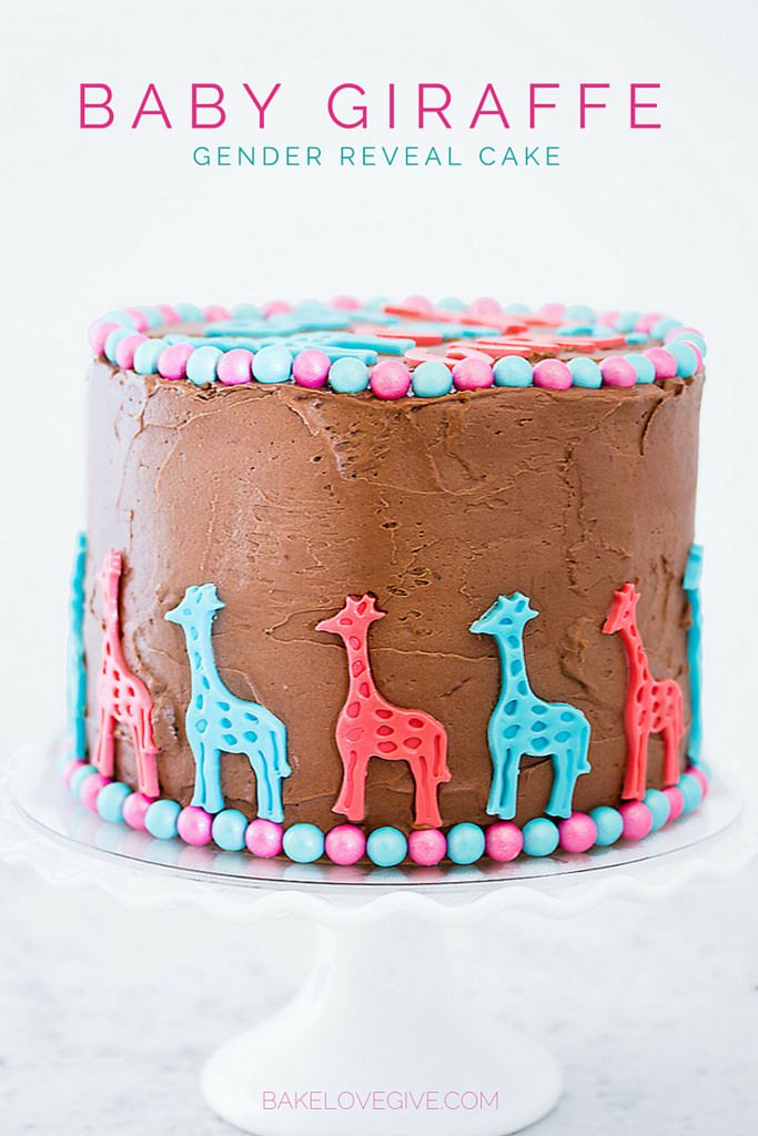 Triple chocolate gender reveal cake Recipe Chocolate fudge