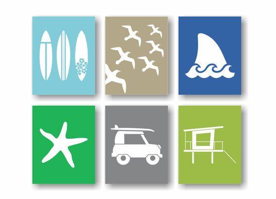 Beach Theme Decor, Surf Wall Art, Surfboard Art, Surfer Decor ...