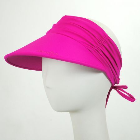 ec0dd5597958a Ruched Fabric Pool Visor available in multiple colors available at   VillageHatShop