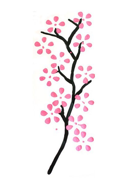 Flor De Cerezo Dibujo Buscar Con Google Dibujos Croquis Pinterest