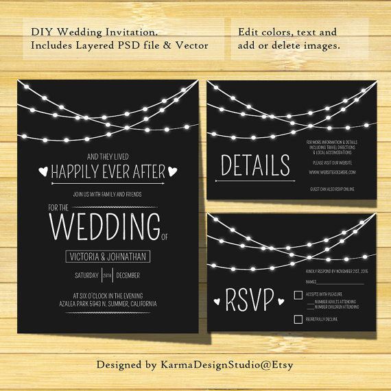 Wedding Invitation Template - Instant Download - Printable - printable wedding shower invitations templates