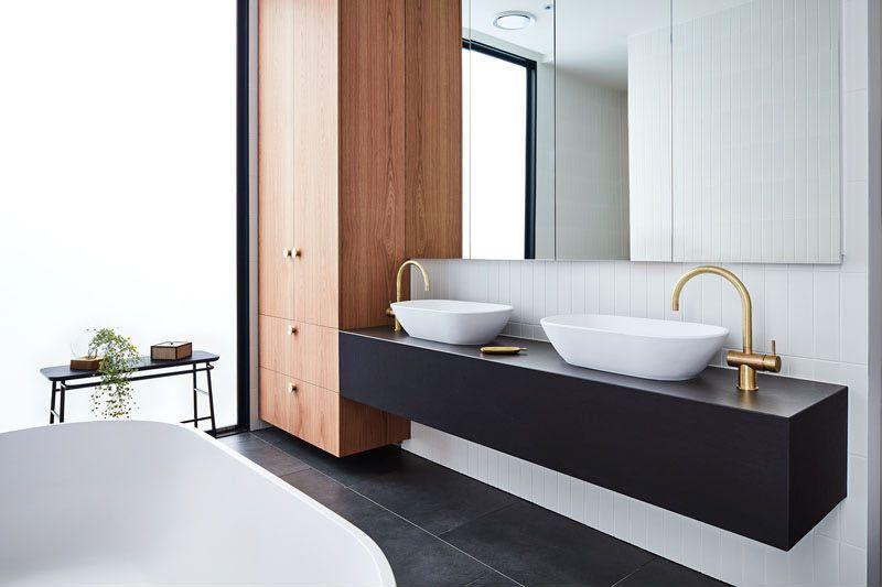 Maison australienne moderne avec cour extérieure fabuleuse salle