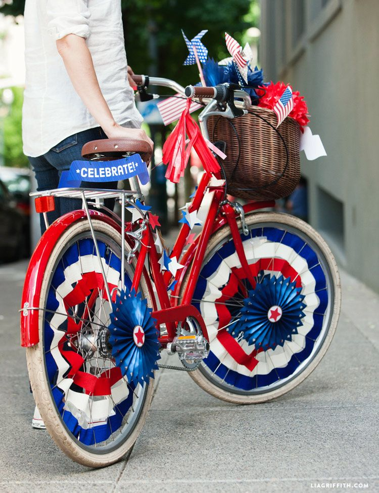 Patriotic Bicycle Decor For Independence Day Bicycle Decor Bike