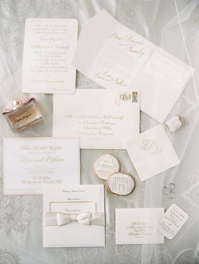 Classic Romantic Glamorous Ritz Carlton D C Wedding Wedding Invitations Stationery Wedding Cards Wedding Design Inspiration