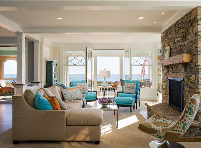 Colorful beach cottage home bunch interior design ideas