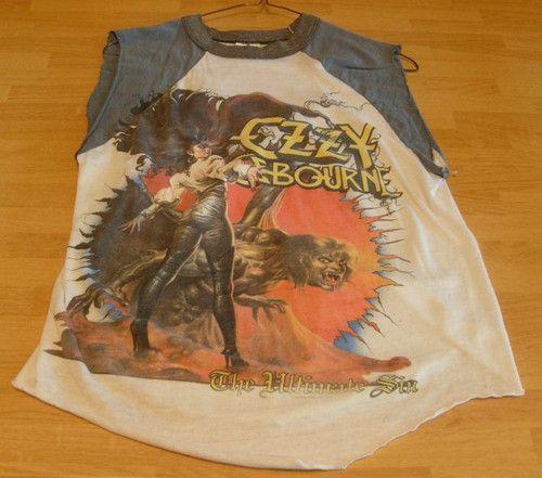 84e3f2e2f Ozzy Osbourne Vintage Altered Concert T Shirt The Ultimate Sin Black  Sabbath | eBay