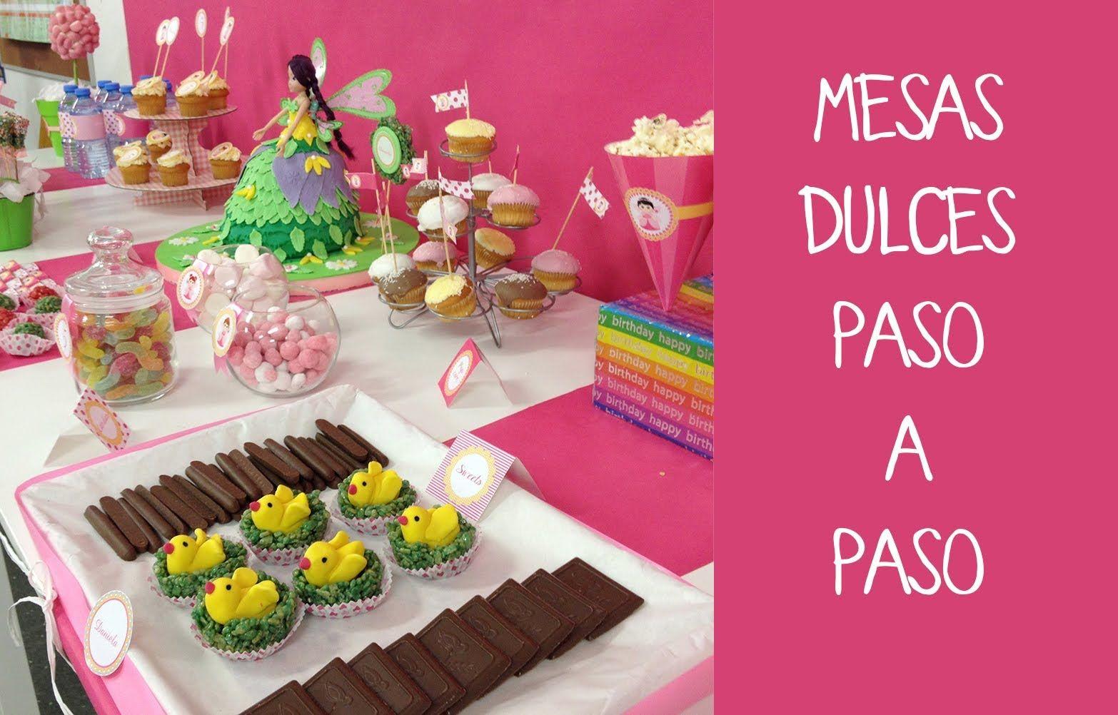 C mo preparar una mesa dulce para fiesta infantil mesas - Hacer mesa dulce bautizo ...