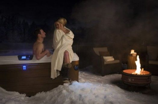 Bullfrog Spas: Of course, it isn't necessary to entertain a whole family in a hot tub; it's the perfect date night escape any time of year. Or the perfect spot when on one's own to relax and let a day of work, exercise, and endless activity be massaged away.  More: http://bit.ly/2fAzD37