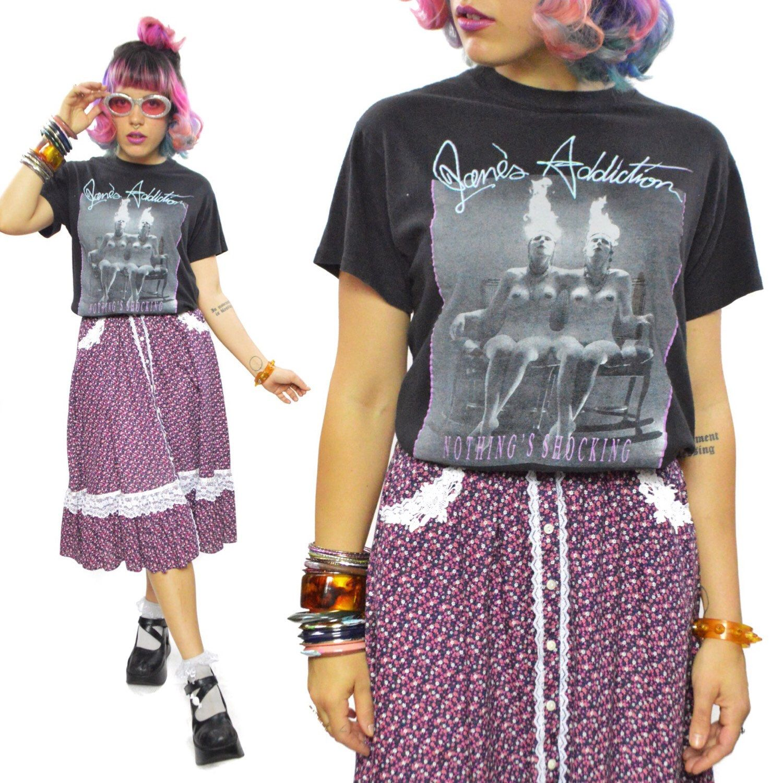 Black sabbath t shirt etsy - Vintage 80s Jane S Addiction Nothing S Shocking T Shirt Sz L By Dopedoll On Etsy Https