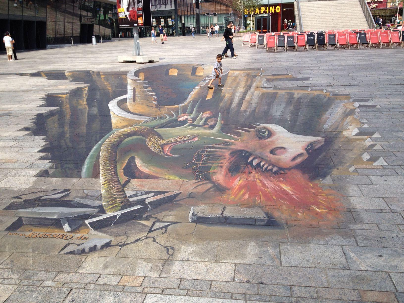 3D painting #Streetart, Almere, The Netherlands ©Copyright photo Rick van der Linden 2012