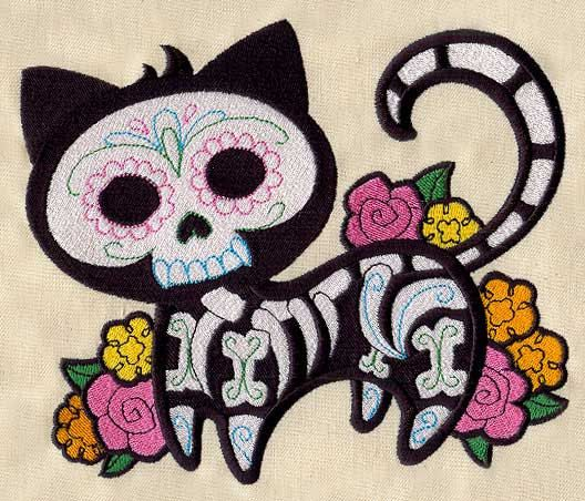 Sugar Skull Cat Towel Custom Kitchen Bathroom By Offthehookbylora