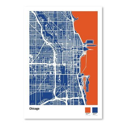 Americanflat Chicago by Michael Tompsett Graphic Art Size: