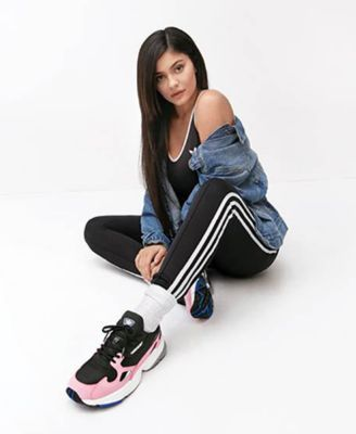 new product 0cfb1 b8bac adidas Women s Originals Falcon Suede Casual Sneakers from Finish Line -  Black 6.5