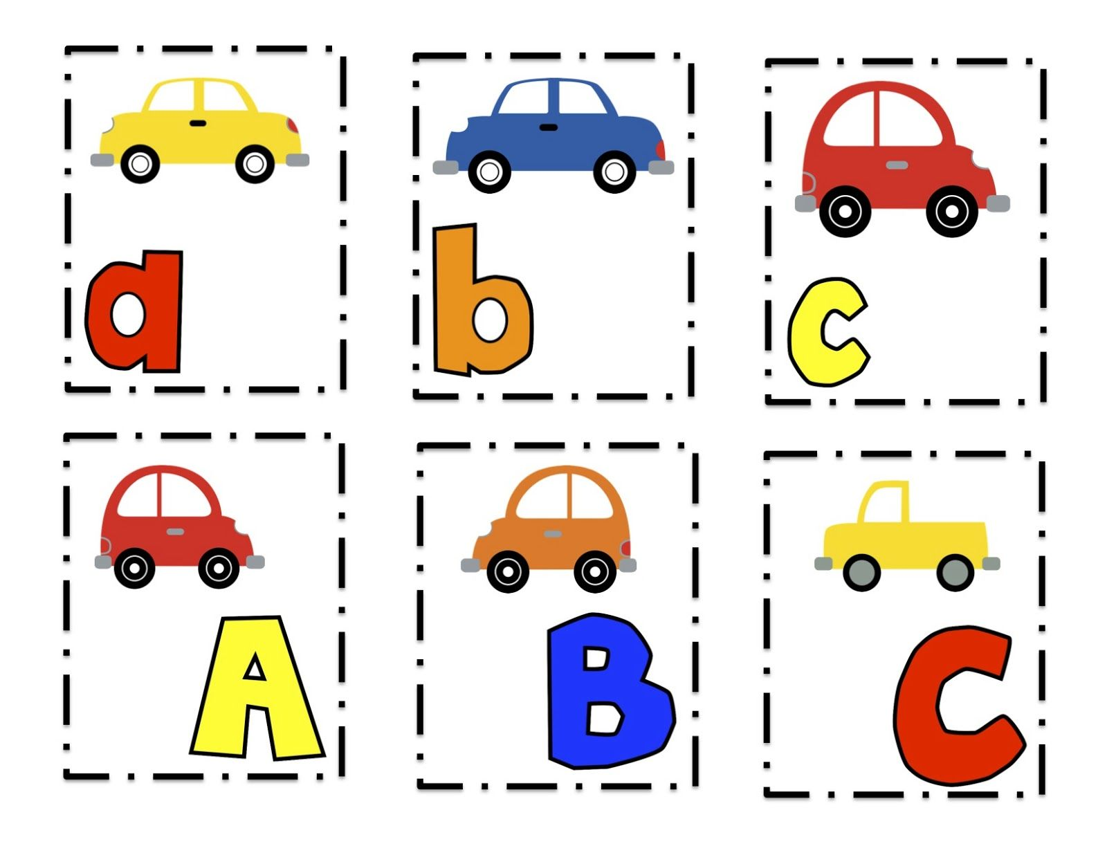 Preschool Printables: Cars Alphabet