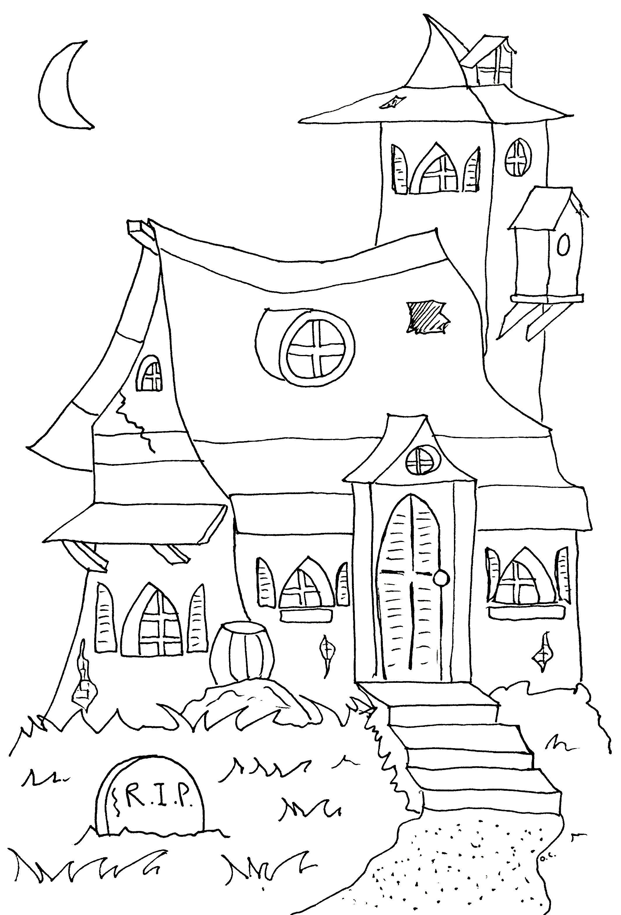 Halloween Haunted Mansion Halloween Coloring Pages Halloween Coloring Halloween Images