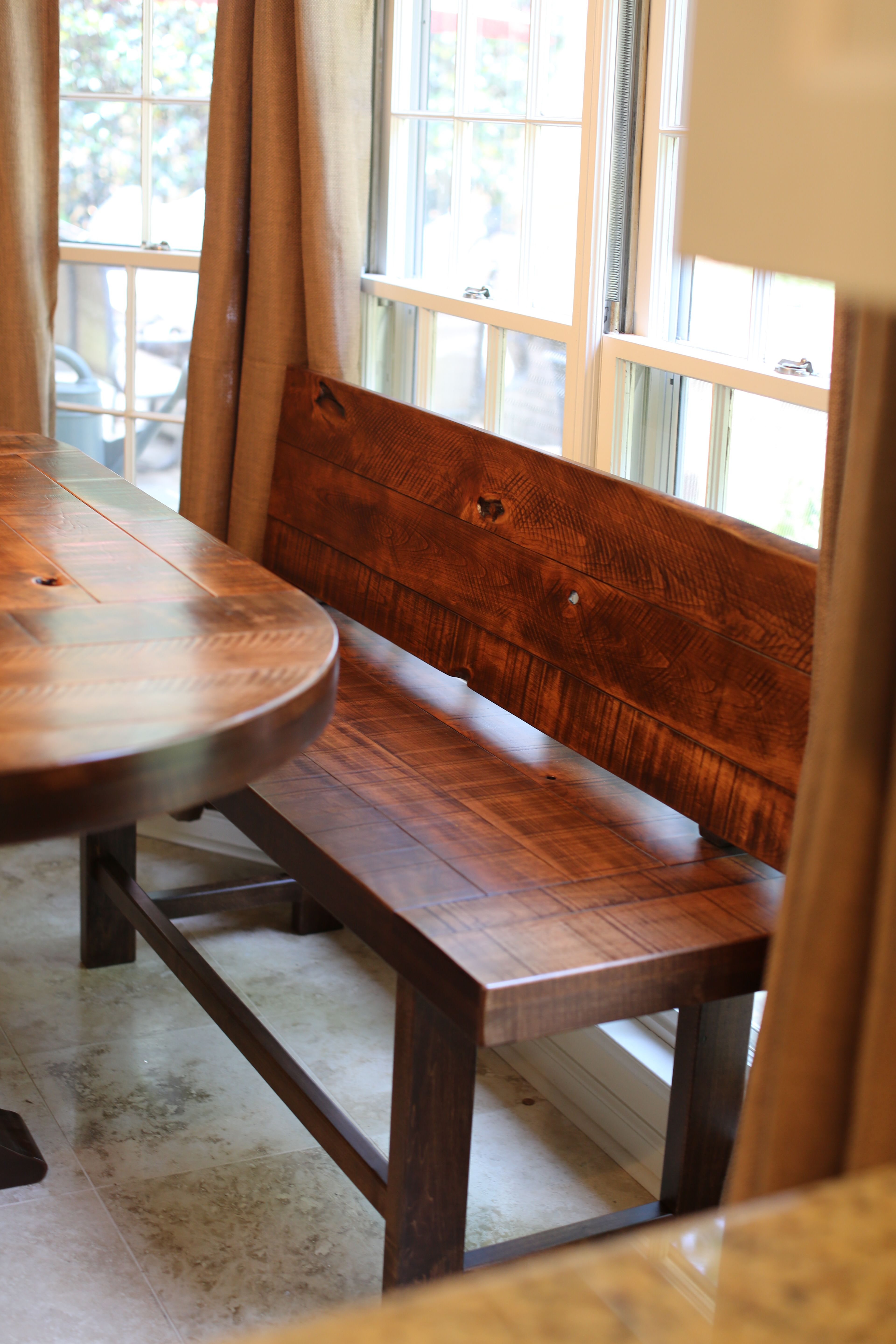 bench with back   ideas in 2019  Farmhouse table with
