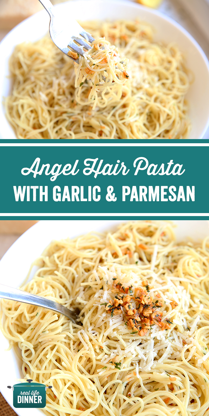 Angel Hair Pasta with Garlic and Parmesan - Real L