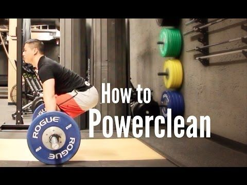 How To Powerclean A Very Concise And Professional Video Video Power Clean Workout Crossfit Power Clean Power Clean