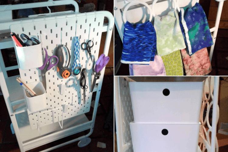 Sunnersta Cart Becomes Craft Cart Sewing Tool Station Ikea Hackers Craft Cart Sewing Rooms Ikea Hackers